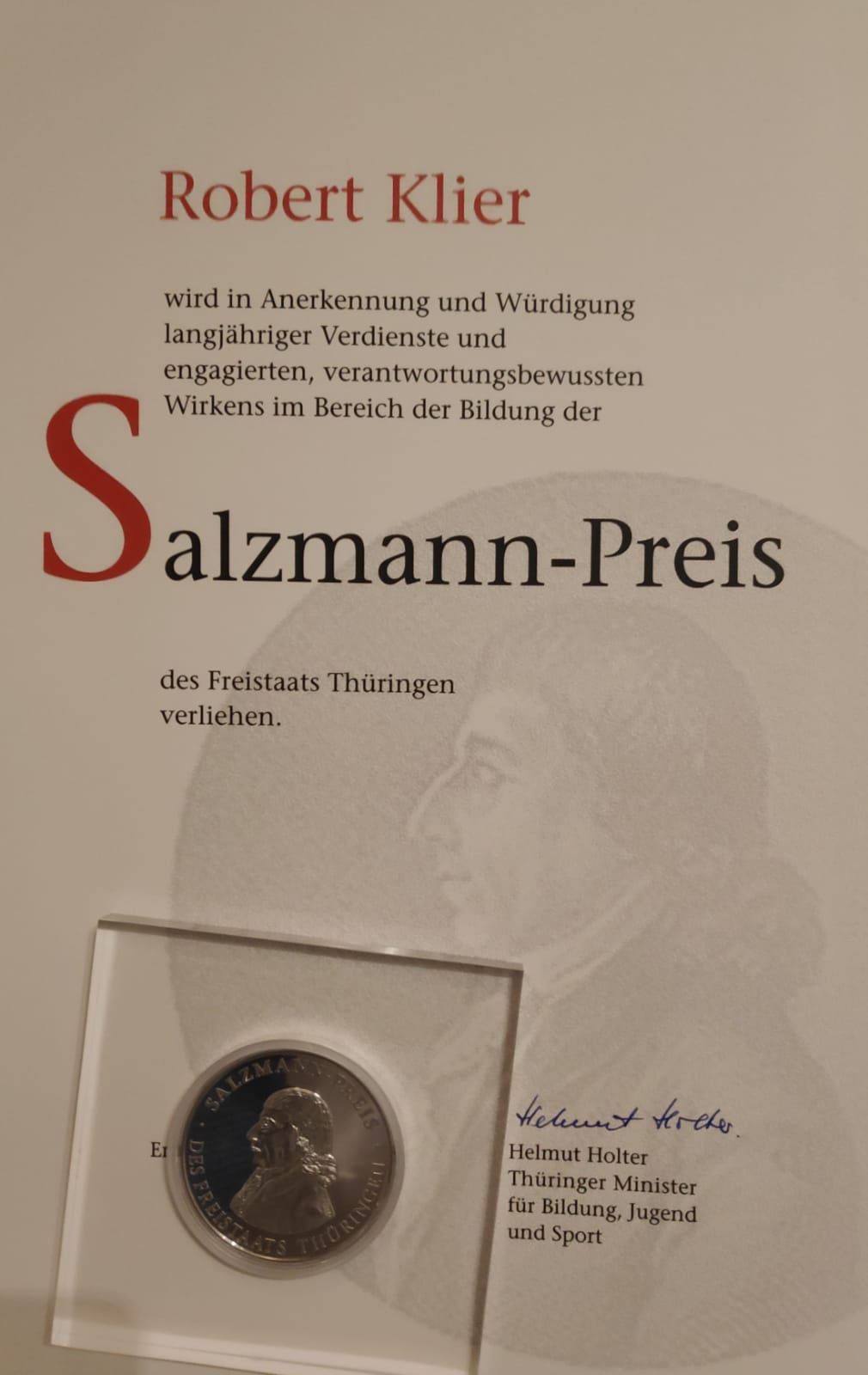 Auszeichnung Salzmannpreis
